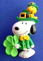 Hallmark PIN St Patrick Vintage SNOOPY WOODSTOCK Leprechaun Shamrock Irish