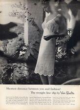 1958 Van Raalte PRINT AD Vintage Under Slip Pretty Woman