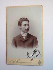 Aussig - 1902 - Herr Günther Fischer / CDV