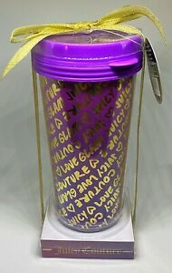 Juicy Couture Purple & Gold Fashion Cold Beverage Drinking Cup | Graffiti Glam