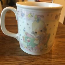 "1991 Precious Moments Coffee Cup ""Praise the Lord Anyhow"""