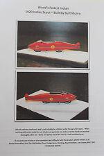 Mundos más rápido de la India, hecho a mano, Kit De Metal Blanco, escala 1/43