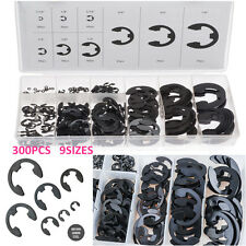 300PC Circlip Snap Retaining Washer Circlip Buckle Lock Ring For Shafts Retainer