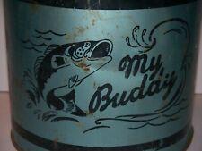 RARE MID CENTURY BLUE Vintage Galvanized My Buddy Minnow Bucket Fishing