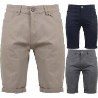 Crosshatch Mens Slim Fit Chino Shorts Stretch Cotton Casual Summer Size 30-42