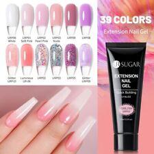 UV Poly Gel Nails Builder Polygel Kit Extension Acrylic Nail Art Glitter Nude