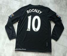 MANCHESTER UNITED 2010 2011 #10 ROONEY THIRD FOOTBALL SOCCER SHIRT JERSEY BOYS