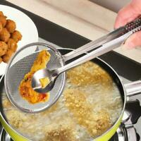 Kitchen Tools Multi-function Filter Spoon With Clip Oil-Frying Salad BBQ Fi H9S9