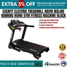 Everfit 48 cm Home Electric Treadmill - Black