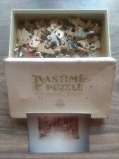 PASTIME PUZZLE PARKER BROS - FILLING THE BOOT - 100 WOOD PIECES - 1942 VINTAGE