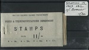 Soloman Is. 1959 SG.SB2 Booklet Left Pin