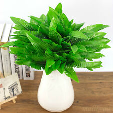 Artificial Green Boston Fern Fake Plant Bush Leaves Foliage Home Office Decor