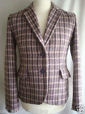 Vintage Style Heritage Wool Blend Tweed Jacket Blazer Coat UK 12 14 US 6 8 M L