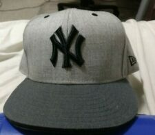 New York Yankees Heather Grey Gray New Era Fitted 7 3/4 Hat 59fifty