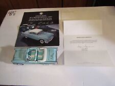 FRANKLIN MINT 1957 CHEVY BEL AIR ASSBLY KIT  ONLY PRE PRODUCTION SAMPLE TO EXIST