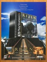 Riven: The Sequel to Myst PS1 Playstation 1 PC 1997 Vintage Poster Ad Print Art