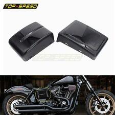 Black Battery Side Cover For Harley Dyna Street Bob Low Rider Super Wide Glide