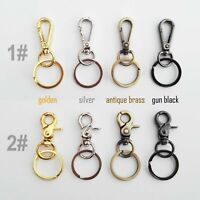Lobster Swivel Keychain Car Key ring Clasp Clip Trigger  Hook + Split Ring