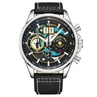 Stuhrling Men's Chronograph Tachymeter Ace Aviator 923 Quartz 45mm premium Watch