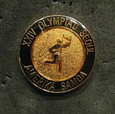 SEOUL 1988 Olympic AMERICA SAMOA  NOC Torch Relay team - delegation pin