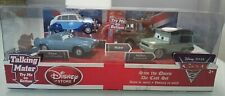 DISNEY PIXAR CARS 2 DIECAST SET - SAVE THE QUEEN - TOY TOW MATER FINN MILES ~NEW
