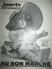PUBLICITE DE PRESSE AU BON MARCHé JOUETS ETRENNES LA POUPéE FRANCAISE AD 1926