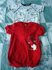 NEW Lot of 2 Boys One Pieces size 3-6 Month  Basketball & Helicopter Patterns