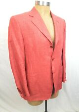 CANALI 100% LINEN JACKET Salmon Pink Blazer 38 US 48 EU Made in Italy