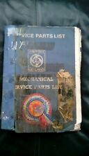 RARE ORIGINAL LEYLAND TRACTOR ENGINE SERVICE PARTS MANUAL