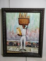 Framed Oil Painting Original on canvas signed by Abraham