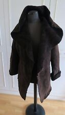 Joseph sheepskin shearling hooded jacket winter Toscana fur coat S UK10EU36 USA8