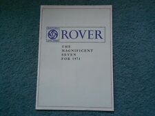 1971 ROVER FULL-LINE THE MAGNIFICENT SEVEN DEALER SALES BROCHURE ORIGINAL OEM