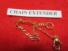 4 INCH 14KT GOLD EP  2MM FIGARO CHAIN  EXTENDER FOR FINE CHAINS