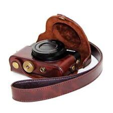 Rx100 Vii Camera Leather Case Bag Strap for Sony Rx100 Vii Vi V Iv Iii Ii Coffee