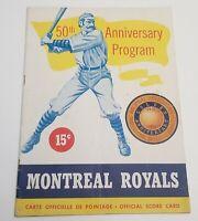 1951 Montreal Royals 50th Anniversary Program TOMMY LASORDA Dodgers