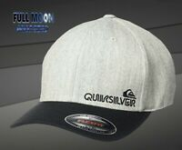 New Quiksilver Sidestay Flexfit Charcoal Heather Mens Cap Hat