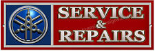 YAMAHA SERVICE & REPAIRS METAL SIGN.CLASSIC JAPANESE ROAD BIKES,YAMAHA OFF ROAD
