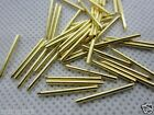 100pc gold plated Copper tube pins for you DIY Tube adapter or others 15 1.2mm