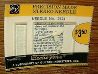 Stereo PHONOGRAPH Needle EV2424 for BSR ST8 ST9 ST10 272-SS73 EV2425 PS110 N162