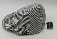 Polo Ralph Lauren Striped Flat Cap Men Size S/M Blue & White 6503284