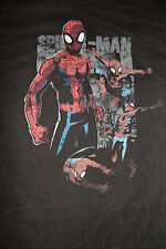 Marvel Comics Spider Man Black Youth T Shirt Size Xl Peter Parker