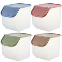 EE_ Grain Storage Case Box Seal Container Rice Flour Food Cereal Sealing Dispens
