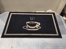 Coffee Cup Logo Mat Diner Restaurant Coffee Shop 3X5 Walk Off Mat