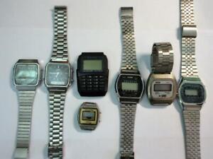 JOB LOT of 7 Vintage QUARTZ DIGITAL WRISTWATCHES - Zeon, Casio, Beta, Timex ect.