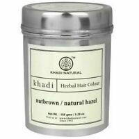 Khadi Natural Herbal Hair Colour, Nut Brown, 150 g - Free Shipping