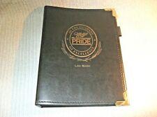 Collectible Miller Pride Hard Back Salesman Log Book / May -Sept.1993 inserts