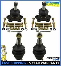 4pc Kit Front Upper and Lower Ball Joint Chevy GMC K2500 K1500 Tahoe Sierra 4WD