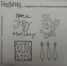 Jolly Holiday cling mounted rubber stamps