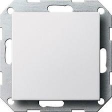 Gira System 55 reinweiss glänzend, BLINDABDECKUNG 026803 mit Tragring