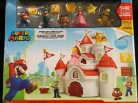 Super Mario World of Nintendo Deluxe Mushroom Kingdom Castle Playset, 5 Figures